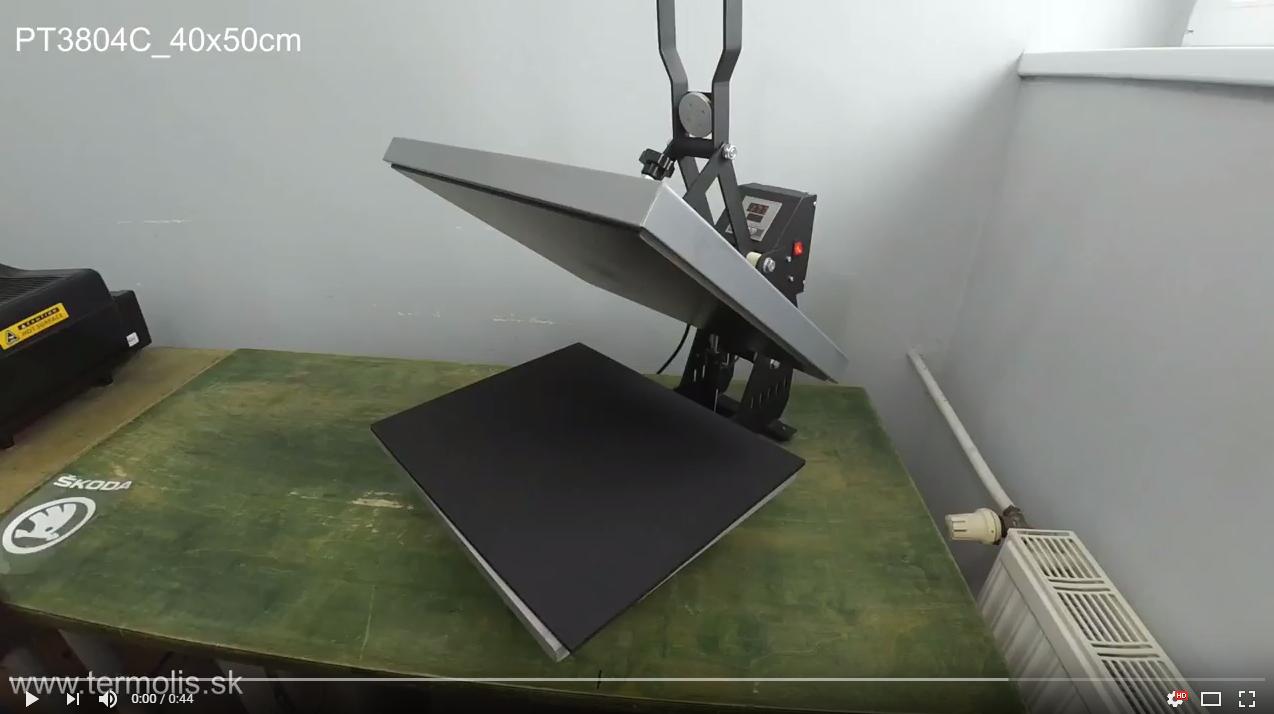 Automaticky otváraný transferový lis 40x50cm